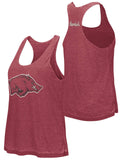 Arkansas Razorbacks Colosseum WOMEN Red Gray Reversible Racerback Tank Top