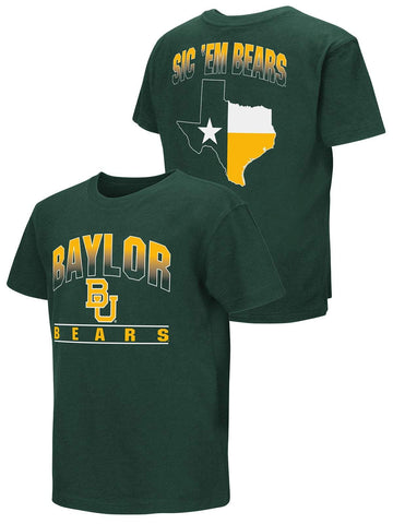 Shop Baylor Bears Colosseum YOUTH BOYS Green Texas State Sic 'Em Bears T-Shirt