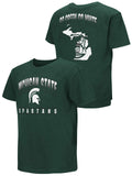 Michigan State Spartans Colosseum YOUTH BOYS Green Go Green Go White T-Shirt