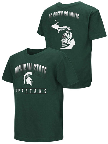 Shop Michigan State Spartans Colosseum YOUTH BOYS Green Go Green Go White T-Shirt