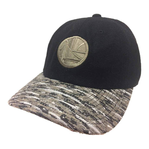 Golden State Warriors Mitchell & Ness Black Flexfit Fitted Relax Hat Cap (L/XL)