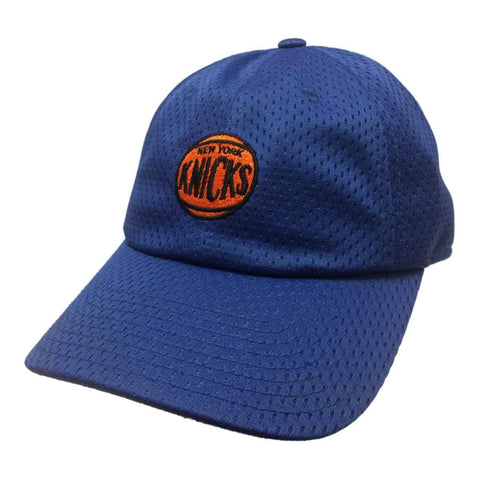 New York Knicks Mitchell & Ness Blue All Over Mesh Strapback Relax Hat Cap