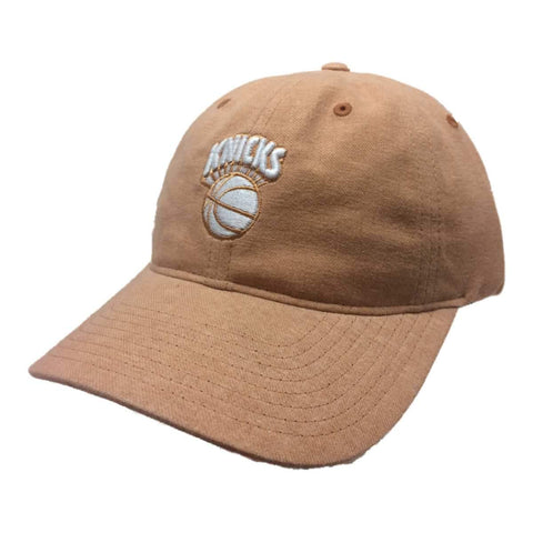 Shop New York Knicks Mitchell & Ness WOMEN'S Faded Orange Strapback Relax Hat Cap