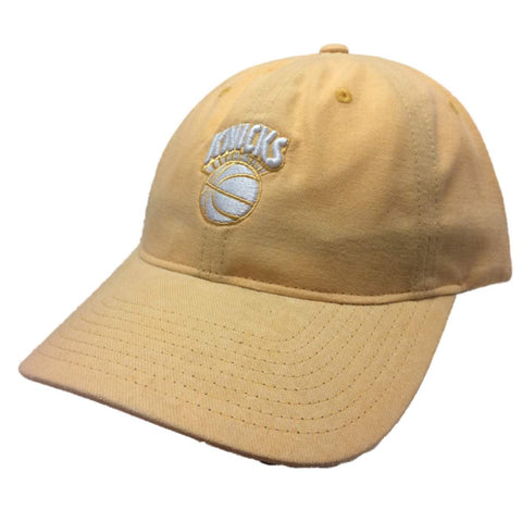New York Knicks Mitchell & Ness WOMEN'S Pastel Yellow Strapback Relax Hat Cap