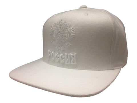 Shop World Cup of Hockey Team Russia Mitchell & Ness White Snapback Flat Bill Hat Cap