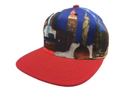 Shop Mitchell & Ness City Scape Multi-Color Adjustable Snapback Flat Bill Hat Cap - Sporting Up