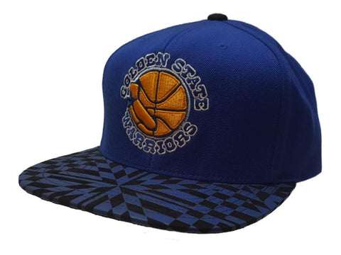 Shop Golden State Warriors Mitchell & Ness Abstract Structured Flat Bill Snapback Hat