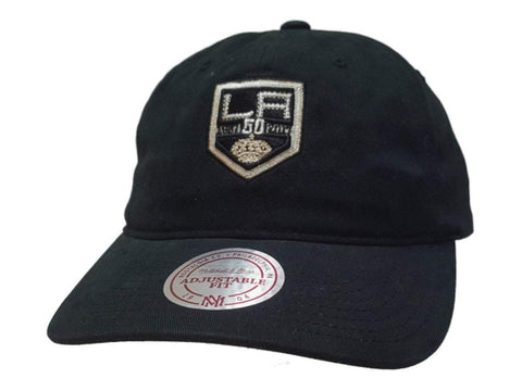 Los Angeles Kings Mitchell & Ness Black Adj. Slouch Strapback Baseball Hat Cap