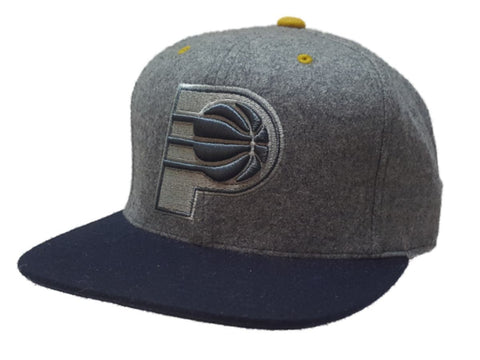Shop Indiana Pacers Mitchell & Ness Gray Wool Style Fitted Flat Bill Hat Cap (7 3/8) - Sporting Up