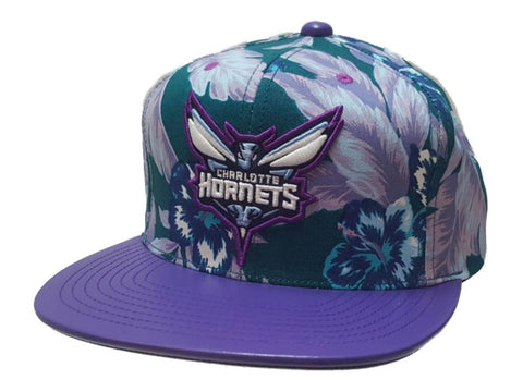 superior quality 4ca80 787bc Charlotte Hornets Mitchell   Ness Floral Print Structured Flat Bill  Snapback Hat