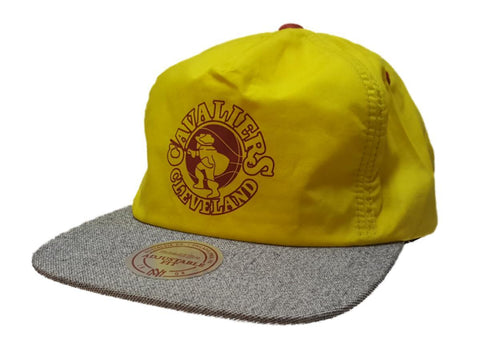 Shop Cleveland Cavaliers Mitchell & Ness Yellow Flat Bill Elastic Painter Style Hat - Sporting Up