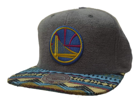 Golden State Warriors Mitchell & Ness Tribal Structured Flat Bill Snapback Hat