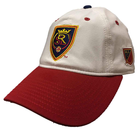Shop Real Salt Lake Adidas White Adj. Relaxed Slouch Strapback Baseball Hat Cap - Sporting Up