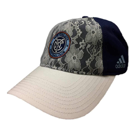 New York City FC Adidas WOMENS Lace Adj Structured Strapback Baseaball Hat