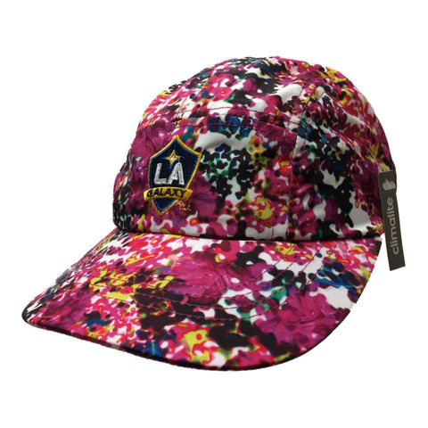Shop Los Angeles Galaxy Adidas Climalite WOMENS Pink Floral Strapback Painters Hat