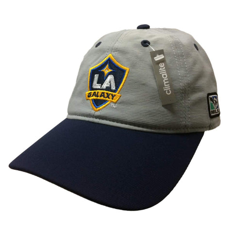 Shop Los Angeles Galaxy Adidas Climalite Gray Adj Relaxed Slouch Strapback Hat Cap