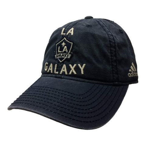 Shop Los Angeles Galaxy Adidas Navy Adjustable Relaxed Strapback Baseball Hat Cap