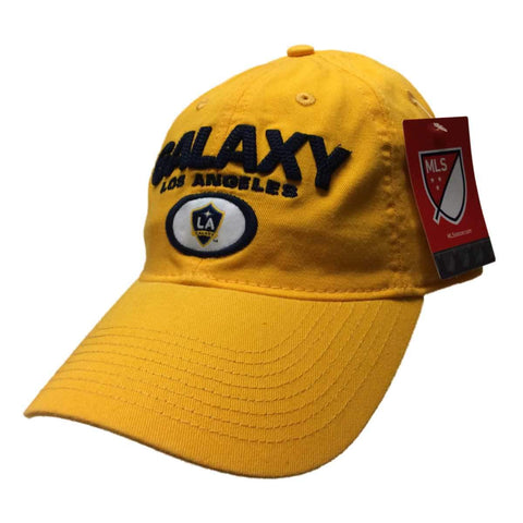 Los Angeles Galaxy Adidas Yellow Adj. Relaxed Slouch Strapback Baseball Hat