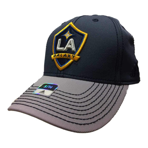 Shop Los Angeles Galaxy Adidas FitMax70 Two-Toned Gray Structured Fitted Baseball Hat