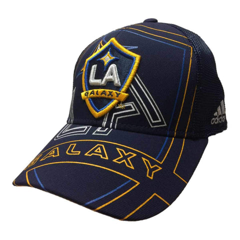Shop Los Angeles Galaxy Adidas FitMax70 Navy Mesh Structured Fitted Baseball Hat