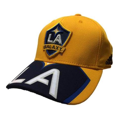Shop Los Angeles Galaxy Adidas Yellow Large Logo Structured Snapback Baseball Hat