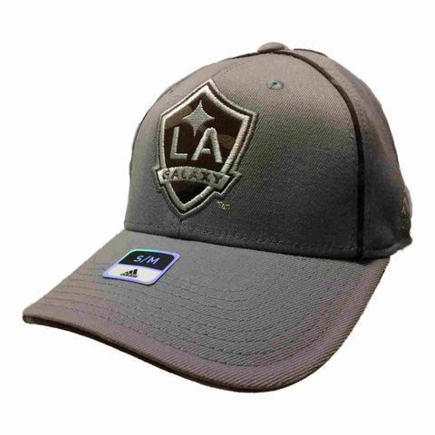 Los Angeles Galaxy Adidas FitMax 70 Gray Structured Fitted Baseball Hat (S/M)