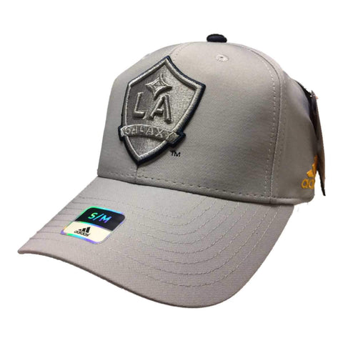 Shop Los Angeles Galaxy Adidas SuperFlex Structured Fitted Baseball Hat Cap (S/M) - Sporting Up