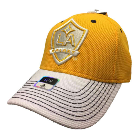 Shop Los Angeles Galaxy Adidas FitMax 70 Yellow Structured Fitted Baseball Hat (S/M)