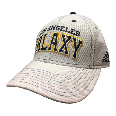 Shop Los Angeles Galaxy Adidas White Adj. Structured Strapback Baseball Hat Cap