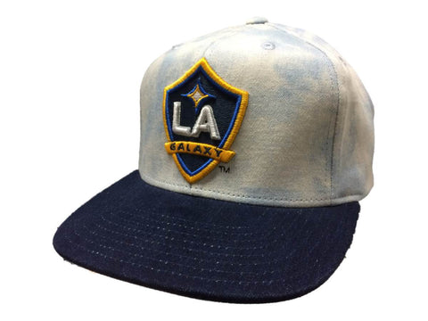 Los Angeles Galaxy Adidas Acid Wash Denim Structured Snapback Flat Bill Hat