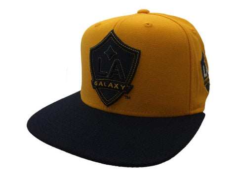 Los Angeles Galaxy Adidas Yellow Adj. Structured Flat Bill Snapback Hat Cap