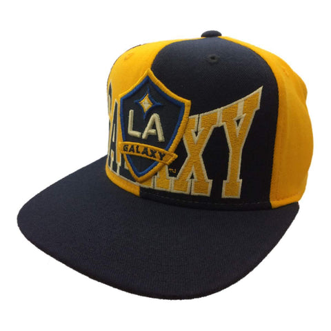 Los Angeles Galaxy Adidas Navy Yellow Structured Snapback Flat Bill Hat Cap