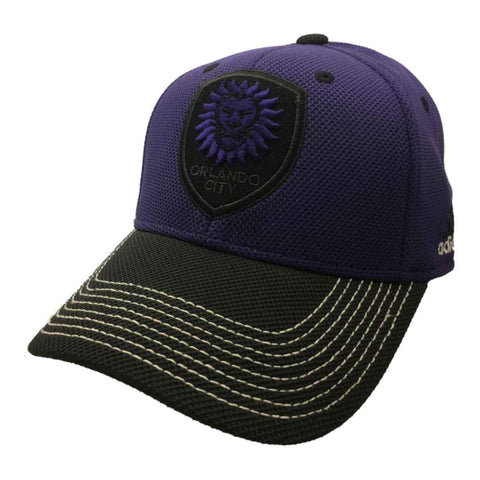 Shop Orlando City SC Adidas FitMax 70 Purple and Black Fitted Baseball Hat Cap (S/M)