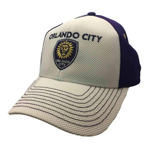 Shop Orlando City SC Adidas White Purple Structured Adjustable Baseball Hat Cap