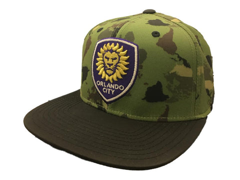 Shop Orlando City SC Adidas FitMax 70 World Map Camouflage Flat Bill Hat Cap (S/M) - Sporting Up