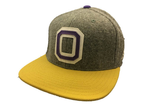 Shop Orlando City SC Adidas Retro Letterman Style Structured Flat Bill Hat Cap (S/M)