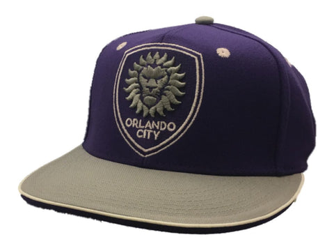 Shop Orlando City SC Adidas SuperFlex Structured Rounded Flat Bill Hat Cap (S/M)