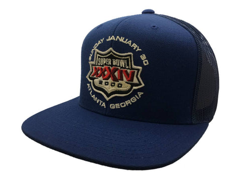 2000 Super Bowl XXXIV Atlanta Georgia Mitchell & Ness Blue Mesh Snapback Hat Cap