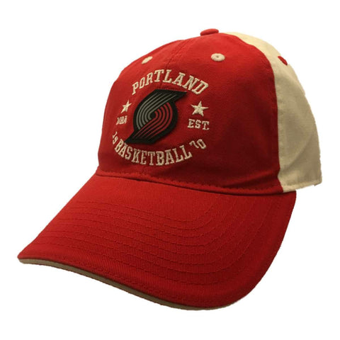 Portland Trail Blazers Adidas WOMEN Red White Relaxed Strapback Baseball Hat Cap