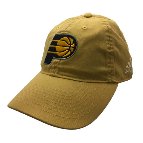 Shop Indiana Pacers Adidas Pastel Yellow Adj. Relaxed Strapback Baseball Hat Cap