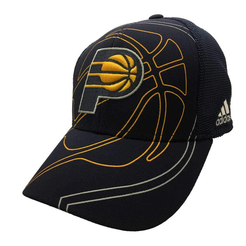Shop Indiana Pacers Adidas FitMax 70 Navy Mesh Structured Baseball Hat Cap (S/M)