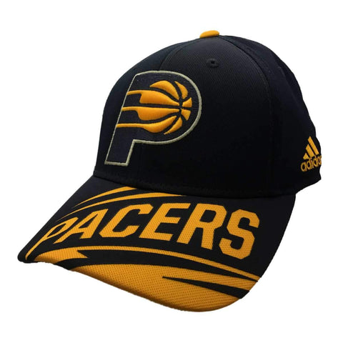 Shop Indiana Pacers Adidas Navy & Yellow Adj Structured Strapback Baseball Hat Cap