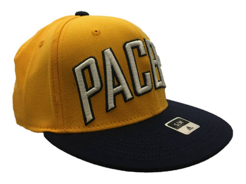 Shop Indiana Pacers Adidas FitMax 70 Yellow Structured Fitted Flat Bill Hat Cap (S/M)