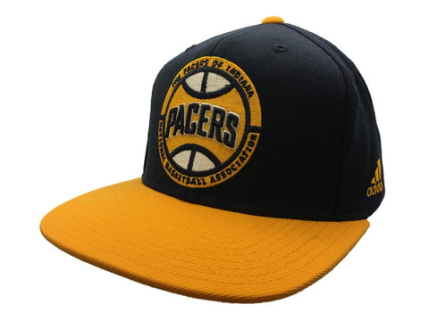 Shop Indiana Pacers Adidas Navy & Yellow Adj Structured Snapback Flat Bill Hat Cap