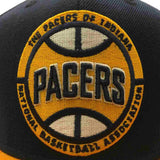 Indiana Pacers Adidas Navy & Yellow Adj Structured Snapback Flat Bill Hat Cap