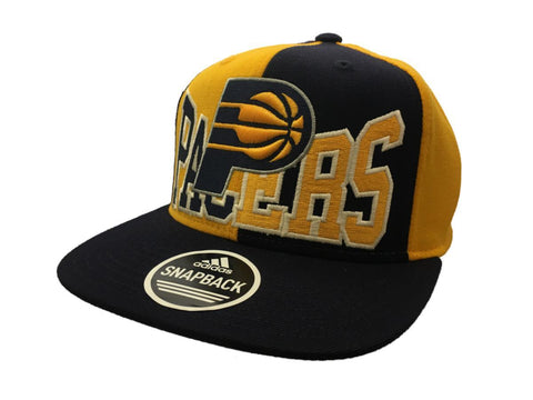 Shop Indiana Pacers Adidas Navy Yellow Panel Structured Snapback Flat Bill Hat Cap - Sporting Up