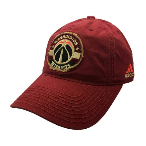 Washington Wizards Adidas Maroon Relaxed Adj. Strapback Baseball Hat Cap