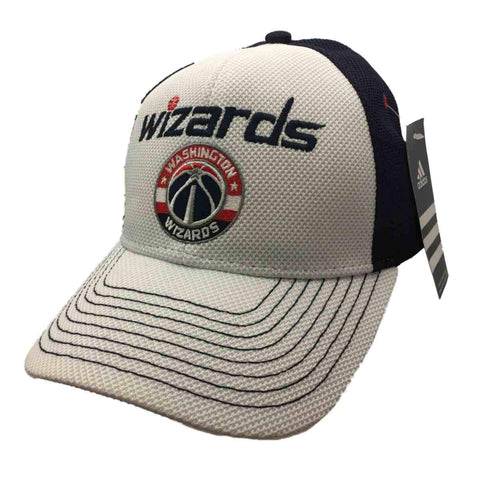 Washington Wizards Adidas White Navy Structured Snapback Baseball Hat Cap - Sporting Up