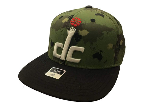 Washington Wizards Adidas FitMax 70 Continent Camo Flat Bill Hat Cap (S/M) - Sporting Up