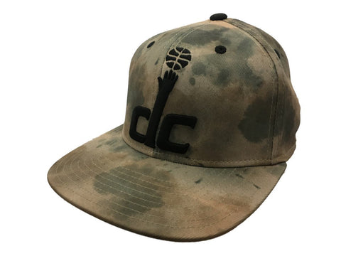 Washington Wizards Adidas FitMax 70 Watercolor Camo Flat Bill Hat Cap (S/M)